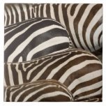 Zebras' (Equus quagga) stripes, Masai Mara Ceramic Tiles