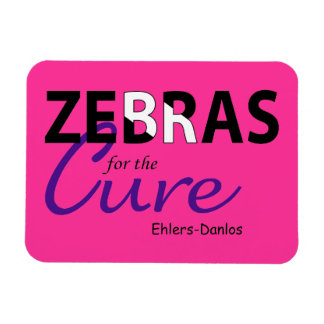Zebras For The Cure Ehlers Danlos Flexible Magnet