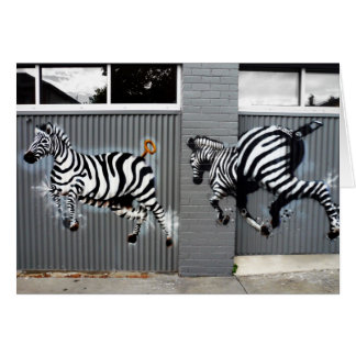 Zebras graffiti cards