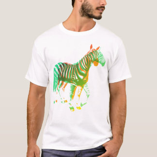 Zebras - Green & Orange T-Shirt