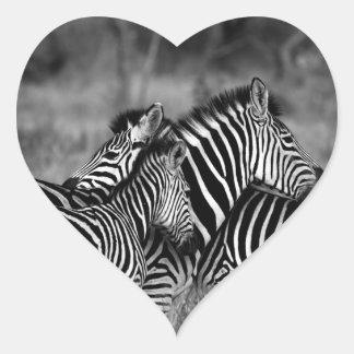 Zebras Heart Sticker