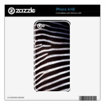 zebra's hide decal for the iPhone 4S