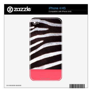 Zebra's Hide iPhone Skin iPhone 4S Decal