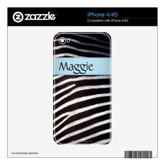 Zebra's Hide Skin For The iPhone 4