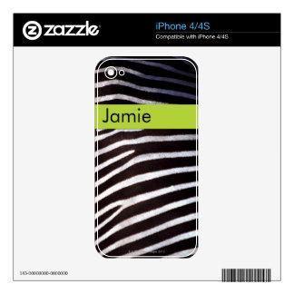 Zebra's Hide iPhone 4S Skin