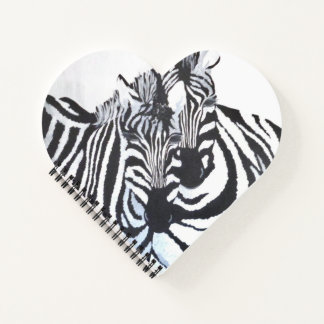 Zebras - I'm With You (Kimberly Turnbull Art) Notebook