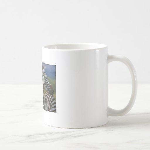 ZEBRAS IN LOVE CLASSIC WHITE COFFEE MUG