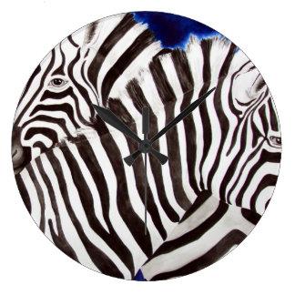 Zebras Large Clock
