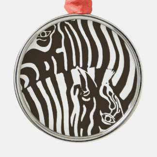 Zebras Metal Ornament