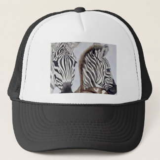 Zebras  Mother and Child Trucker Hat