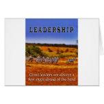 Zebras on Leadership (2) Greeting Card