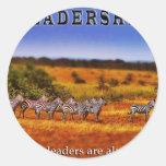 Zebras on Leadership (2) Round Sticker