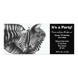 Zebras Party Invitation