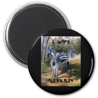 Zebras Refrigerator Magnet