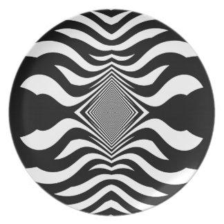 Zebra's Revenge Dinner Plate