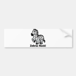 Zebras Rock! Bumper Sticker