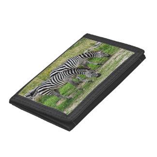 Zebras Trifold Nylon Wallet