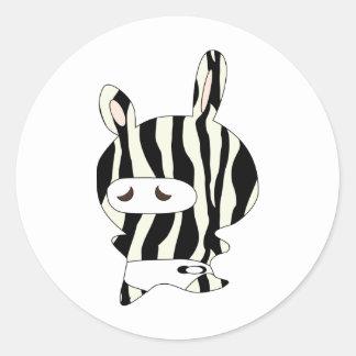 zebraskin pegatina redonda