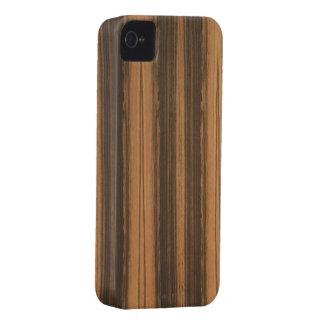 Zebrawood Wood Grain Blackberry Case