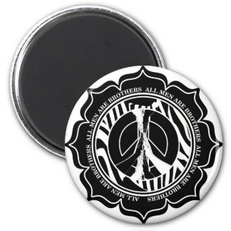 Zebro Lotus Peace 2 Inch Round Magnet
