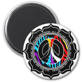 Zebrolor Lotus Peace 2 Inch Round Magnet