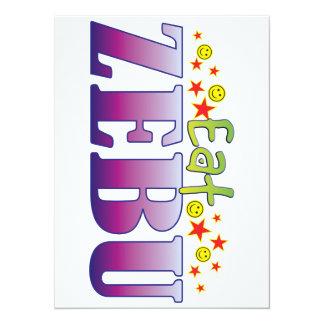 Zebu Eat 5.5x7.5 Paper Invitation Card