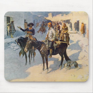 Zebulon Pike Entering Santa Fe Mouse Pad