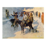 Zebulon Pike Entering Santa Fe Post Card