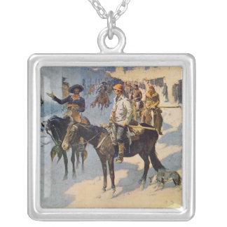 Zebulon Pike Entering Santa Fe Silver Plated Necklace