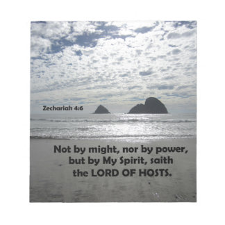 Zech. 4:6 Not by might, nor by power, Notepads