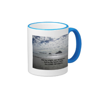 Zech. 4:6 Not by might, nor by power, Ringer Mug