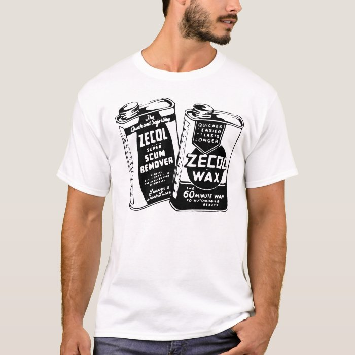 Zecol Wax Cans Vintage Ad T-shirt