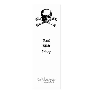 Zed Crossbones Double-Sided Mini Business Cards (Pack Of 20)