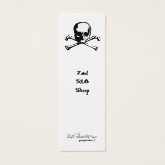 Zed Crossbones Mini Business Card