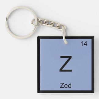 Zed Name Chemistry Element Periodic Table Keychain