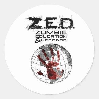 ZED CLASSIC ROUND STICKER