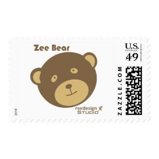 Zee Bear Postage Stamps