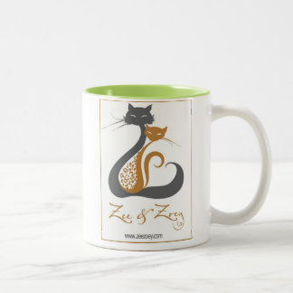 Zee & Zoey Cat Logo Mug