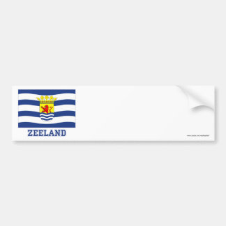 Zeeland Flag with name Bumper Stickers