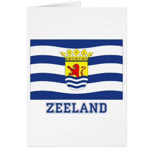 Zeeland Flag with name Greeting Card