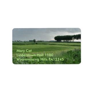 Zeeland-Summer green Address Label