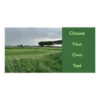 Zeeland-Summer green Customized Photo Card