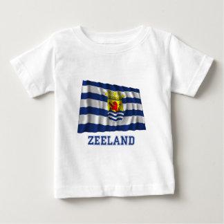 Zeeland Waving Flag with Name Baby T-Shirt