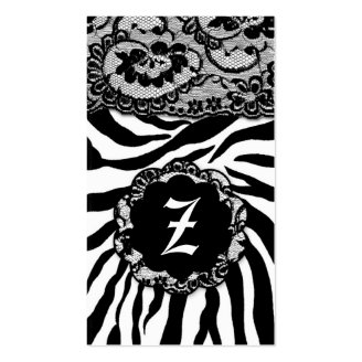 ZEES SEXY SAFARI: BLACK & WHITE BUSINESS CARD