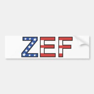 ZEF BUMPER STICKER