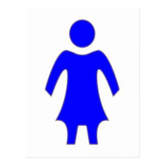 Zeichen Frau sign woman Postkarten