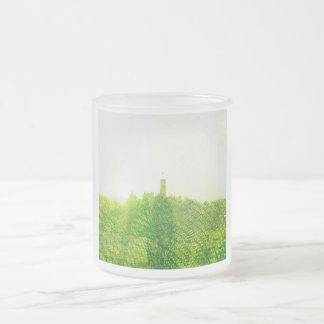 Zeit als Relation zwischen Raum und Materie Frosted Glass Coffee Mug