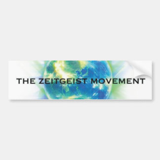 Zeitgeist Movement Car Bumper Sticker