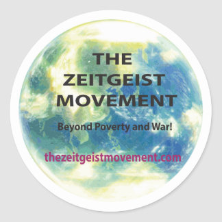 Zeitgeist Movement Classic Round Sticker