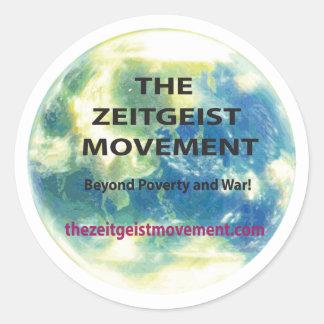 Zeitgeist Movement Classic Round Sticker